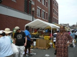 Writer Gnaani at Haymarket US Visit Farmers Market