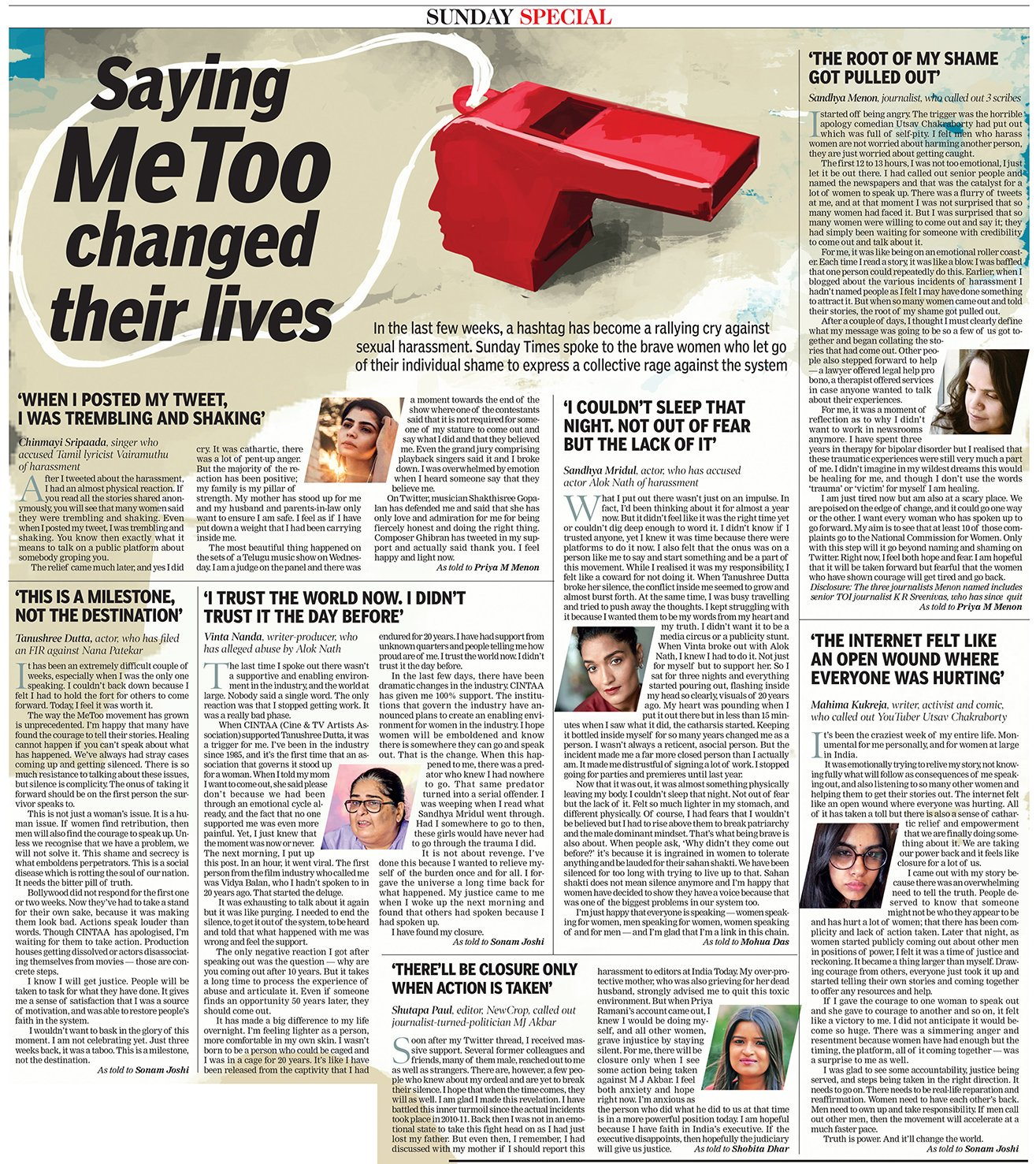 #MeToo - Female Voices against Sexual Harassment